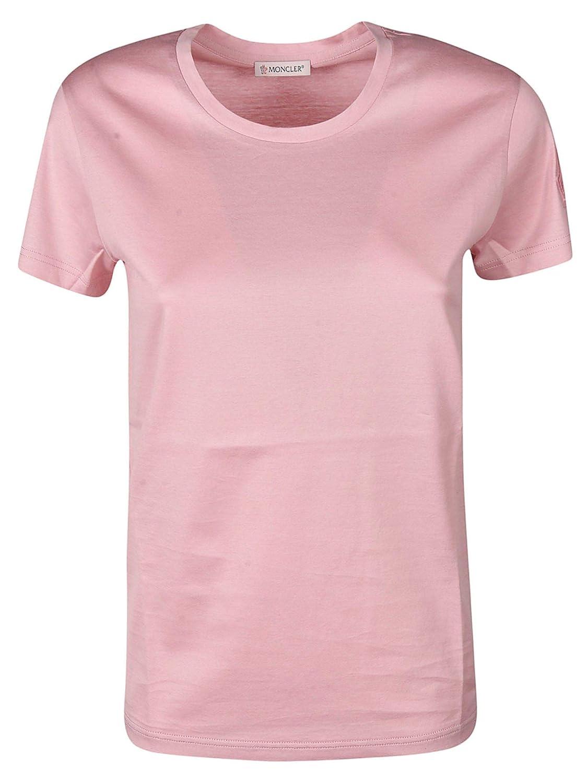 Moncler Women's 8086261V8002500 Pink Cotton TShirt