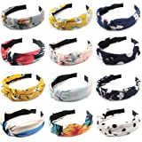 Canitor 12 Pack Headbands for Women Top Knot Headbands Knot Headbands for Women Knotted Headbands for Women