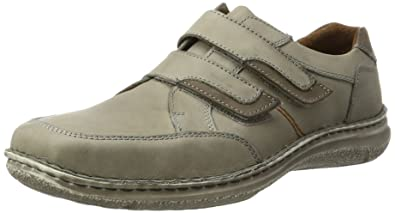 Mens Anvers 83 Loafers, Grau-Kombi, 8 UK Josef Seibel