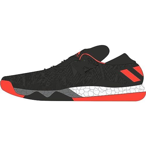 adidas Crazylight Boost Low 2016 J, Zapatillas de Baloncesto para Niños, Negro Escarl/