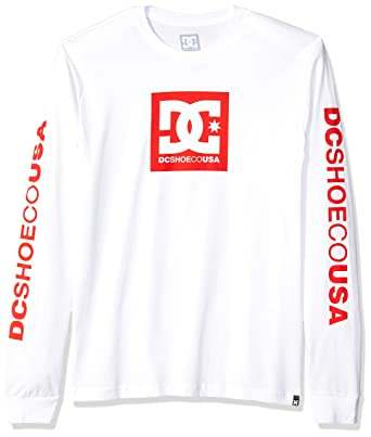 DC Shoes Men's Square Star Long Sleeve T Shirt White XL