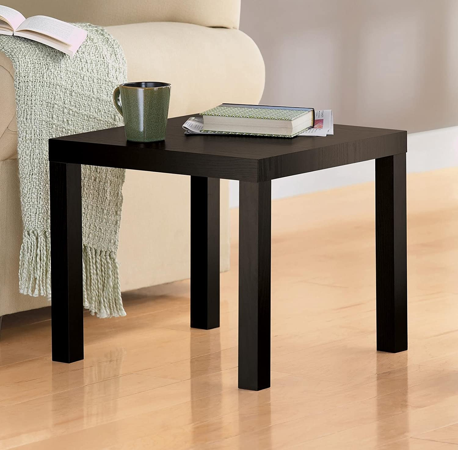 Amazon.com: DHP Parsons Modern Coffee Table, Black Wood Grain U0026 DHP Parsons Modern  End Table, Black Wood Grain: Kitchen U0026 Dining