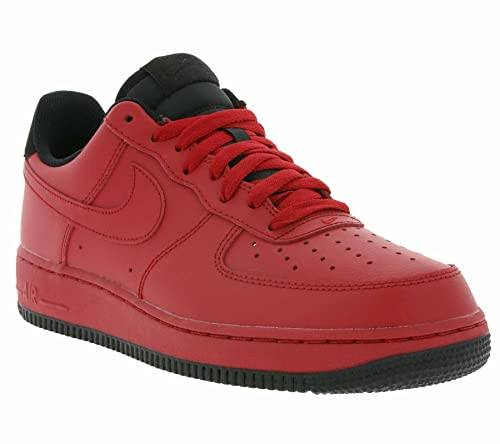 new style 7390d a6b04 Nike, Uomo, Air Force 1 07 Gym Red, Pelle, Sneakers, Rosso  Amazon.it   Scarpe e borse