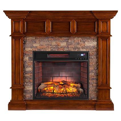 amazon com southern enterprises merrimack corner infrared electric rh amazon com Infrared Fireplace Heaters Corner Large Infrared Fireplaces