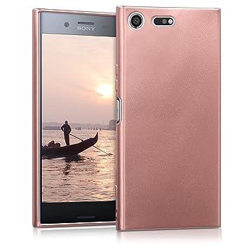 kwmobile Funda para Sony Xperia XZ Premium - Carcasa para móvil en [TPU Silicona] - Protector [Trasero] en [Oro Rosa Metalizado]