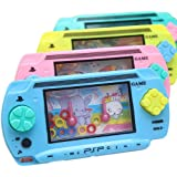 uhoMEy 1x PSP Style Funny Water Console Ring Toss Puzzle Game Toy Gift Present Colorful for Kids Children Early Education (Color Randomly)