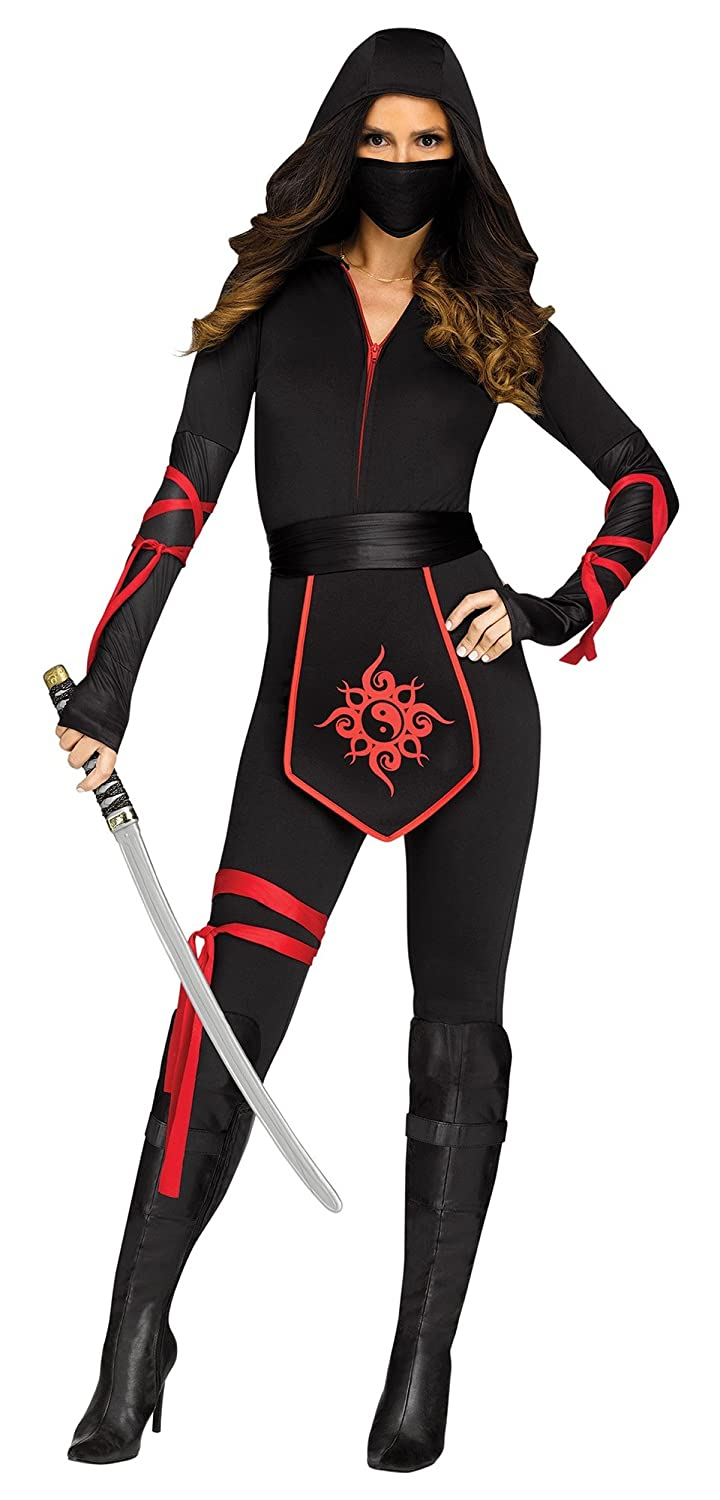 Fun World Sexy Ninja Warrior Adult Costume- Black