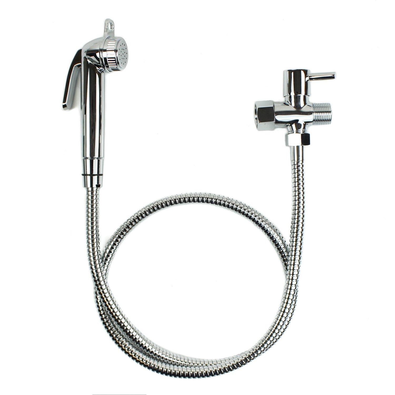 Bumkins Cloth Diaper Sprayer for Toilet, Diaper Wash, Bidet Sprayer, Handheld - Chrome Finish by Bumkins