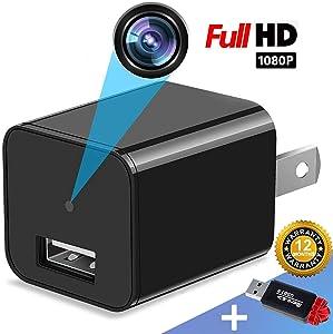 Spy Camera Charger - Mini Hidden Camera - HD 1080P - USB Charger Camera - Motion Detection - Hidden Spy Camera - Hidden Nanny Cam - Hidden Spy Cam - Surveillance Camera Full HD - No Wi-Fi Needed