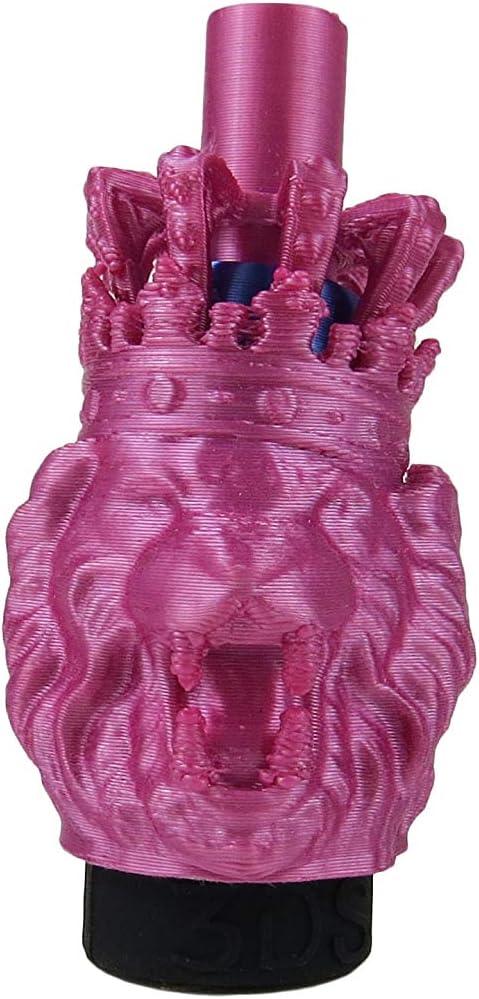 Boquillas Cachimba/Boquilla Shisha/Boquilla Cachimba/Accesorio para Cachimba/Boquilla 3D Para Cachimba(León Rosa)