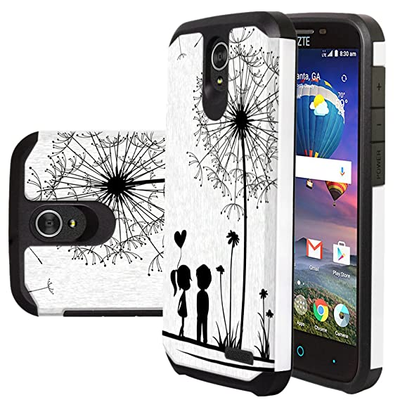 new arrival 6a2aa a82b4 ZTE ZMax Champ Case, Zmax Grand Lte Case, ZTE Warp 7 Case, ZTE Grand X3  Case, Harryshell Shock Absorption Drop Protection Hybrid Dual Layer Armor  ...
