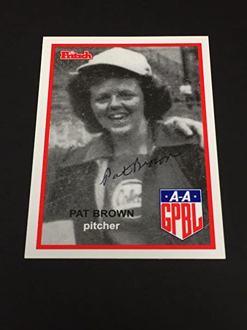 Pat Brown AAGPBL Chicago Colleens Signed Autograph Photo Card