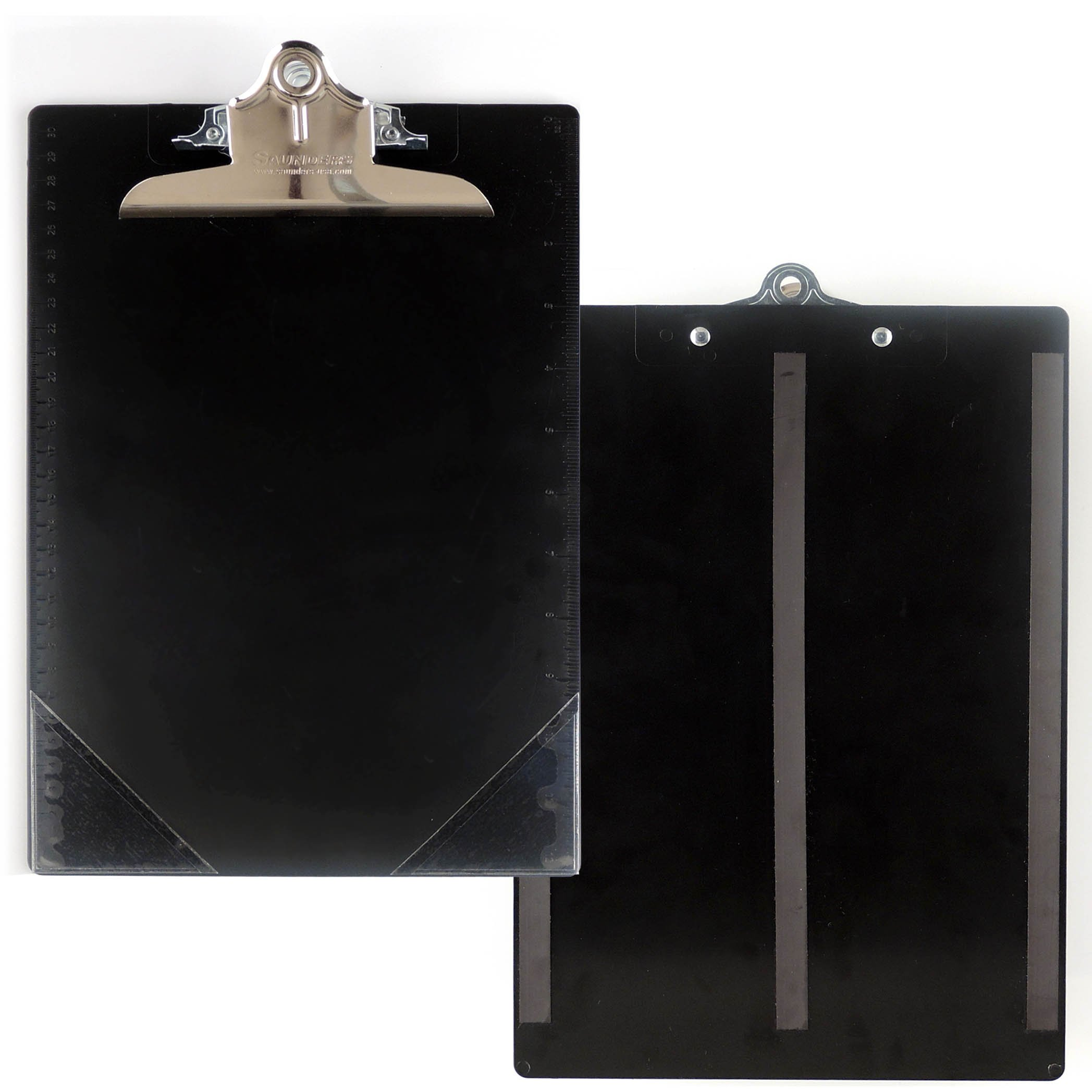 StoreSMART - Magnetic Black Clipboard with Corner Pockets and Rulers - 50-Pack - CLIPMC-BK-50