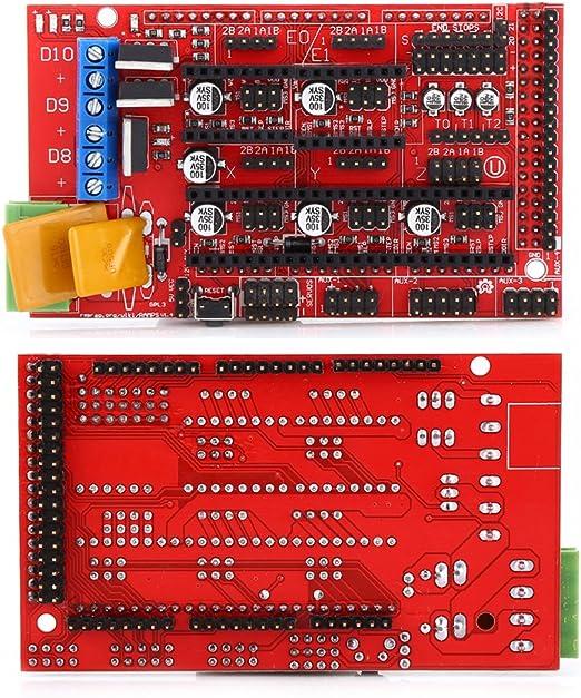 RAMPS 1.4 Regulador + MEGA2560 R3 Tablero + 5pcs Soldered A4988 Stepper Motor Drivers + 5pcs Disipadores de calor + 19pcs Puentes con cable del USB para el kit de la Impresora