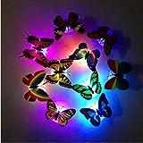 Butterfly Lights PANNIUZHE PCS Flashing Colorful D Butterfly - Butterfly lights for bedroom