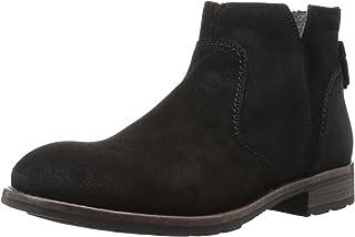 Sebago Women's Laney Ankle Boot Bootie, Black Waxy Suede, 9.5 B US