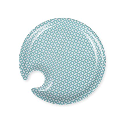 CLOSEOUT Set of 4 Appetizer Plates - 7u0026quot; Round Melamine Plates with Wine Glass Holder  sc 1 st  Amazon.com & Amazon.com: CLOSEOUT Set of 4 Appetizer Plates - 7