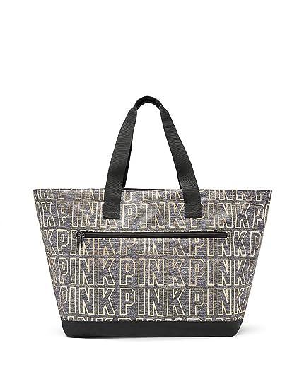 570d794a2437 Amazon.com  Victoria s Secret PINK New Metallic Tote (Grey Marl)  SALEALL  HQ LLC