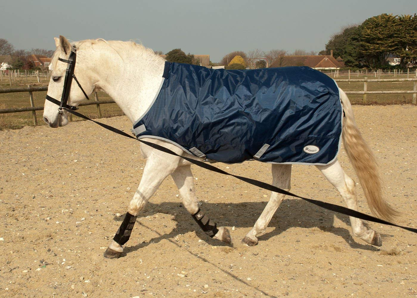 5.9 Travel Cooler Harlequin Multi Purpose Fleece Horse Rug Stable Navy,