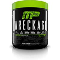 MusclePharm Wreckage Pre-Workout Powder, Superior Focus and Sustained Pump, Fruit Punch, 25 Servings