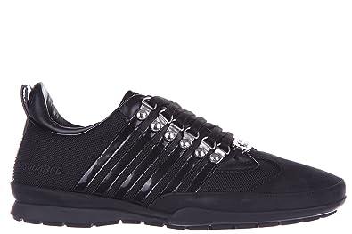 Chaussures Dsquared2 Homme Baskets Noir Cuir 251 Sneakers en shxdCtQr
