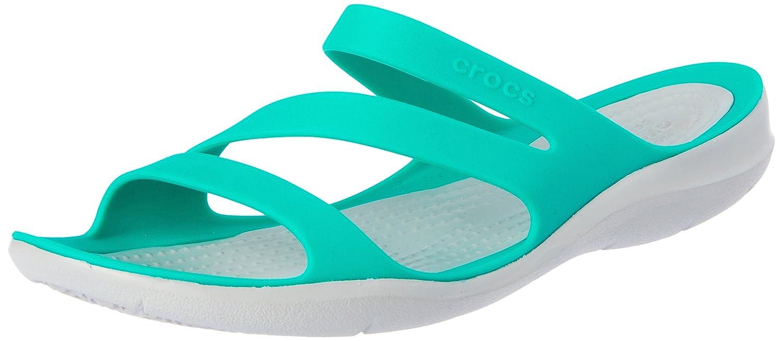 Crocs Women's Swiftwater Sandal B071WCWX9S 9 B(M) US|Tropical Teal/Light Grey