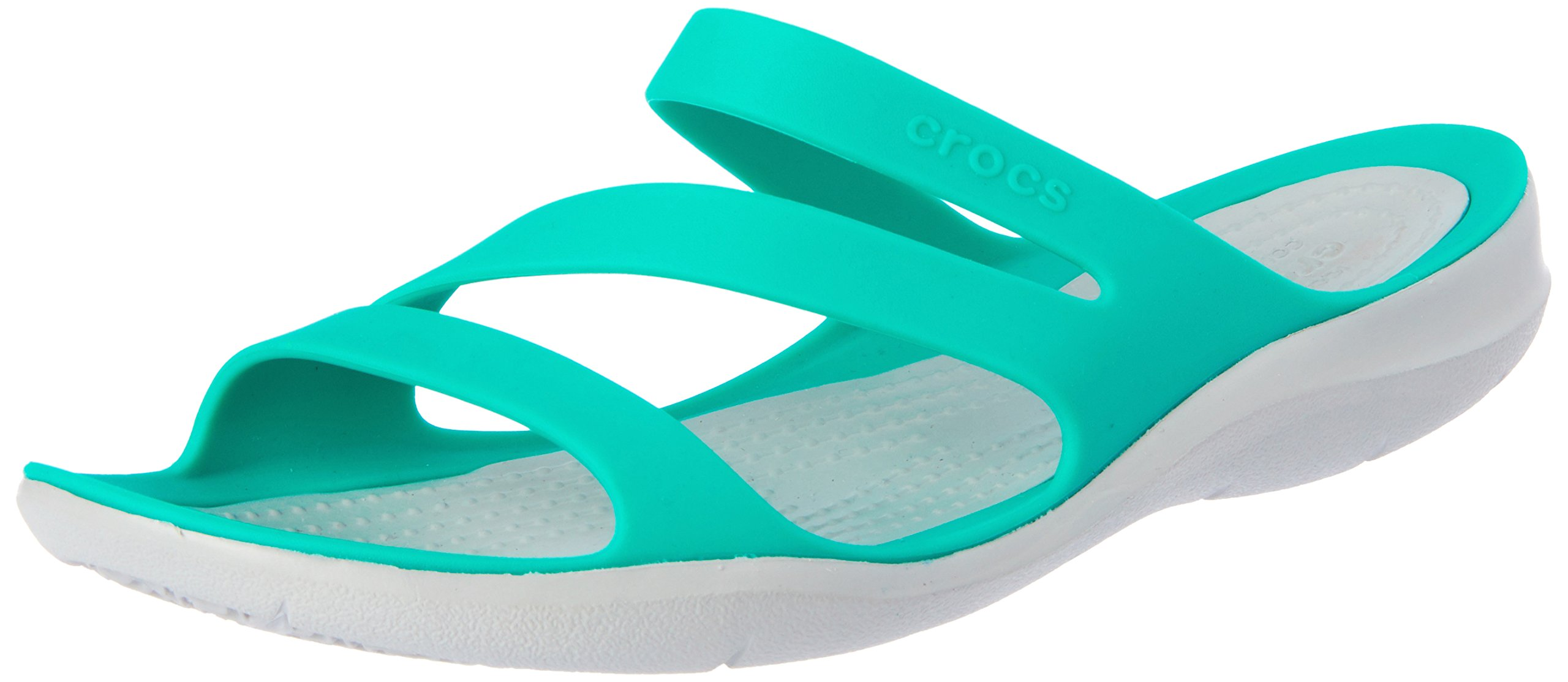 Crocs Women's Swiftwater Sandal, Tropical Teal/Light Grey, 9 M US