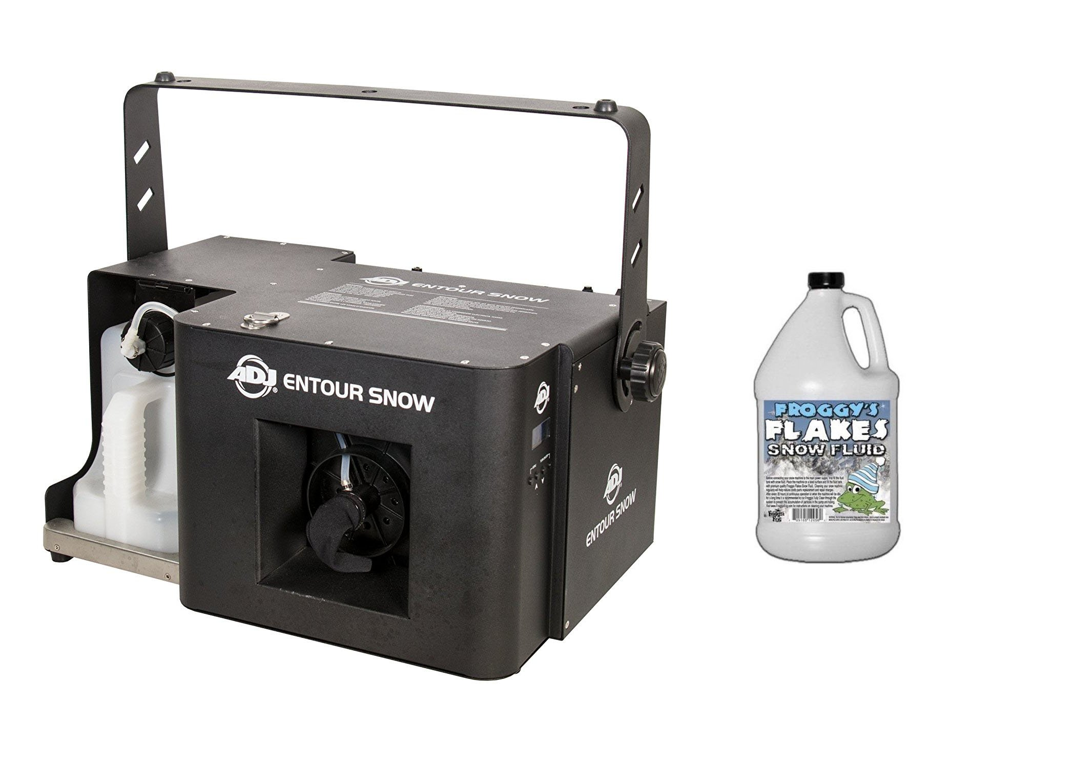 ADJ Products ENTOUR SNOW Special Effects & ONE GALLON OF FROGGYS SNOW FLUID by ADJ Products