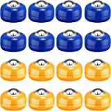 Gejoy 16 Pieces Shuffleboard Replacement Pucks Tabletop Equipment Rollers Set Shuffleboard Curling Accessories