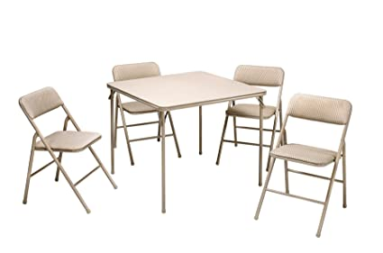Amazon.com: Cosco 14551WHD Outdoor Living 5-Piece Folding Table and ...
