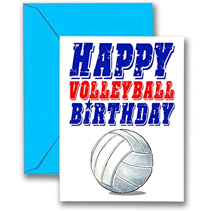 Amazon Play Strong 3 Pack Volleyball Star Birthday Cards