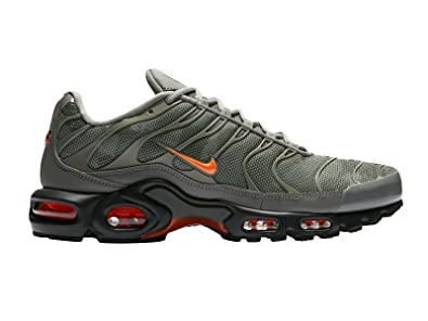 NIKE Men's Air Max Plus Dark StuccoTotal OrangeSequoia Synthetic Running Shoes 8.5 D(M) US