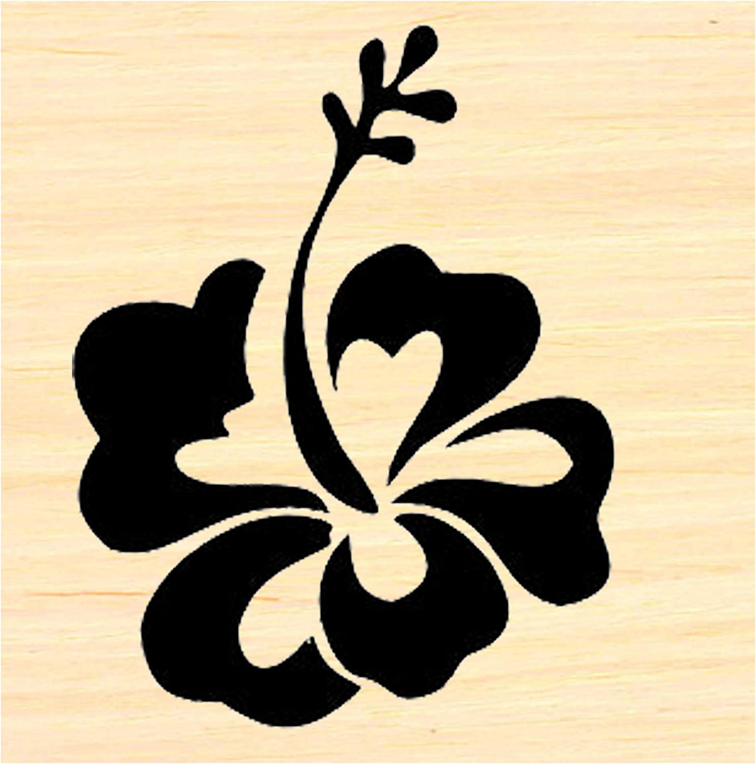 Dragonflylaser Merry Christmas Vintage style rubber stamp P58