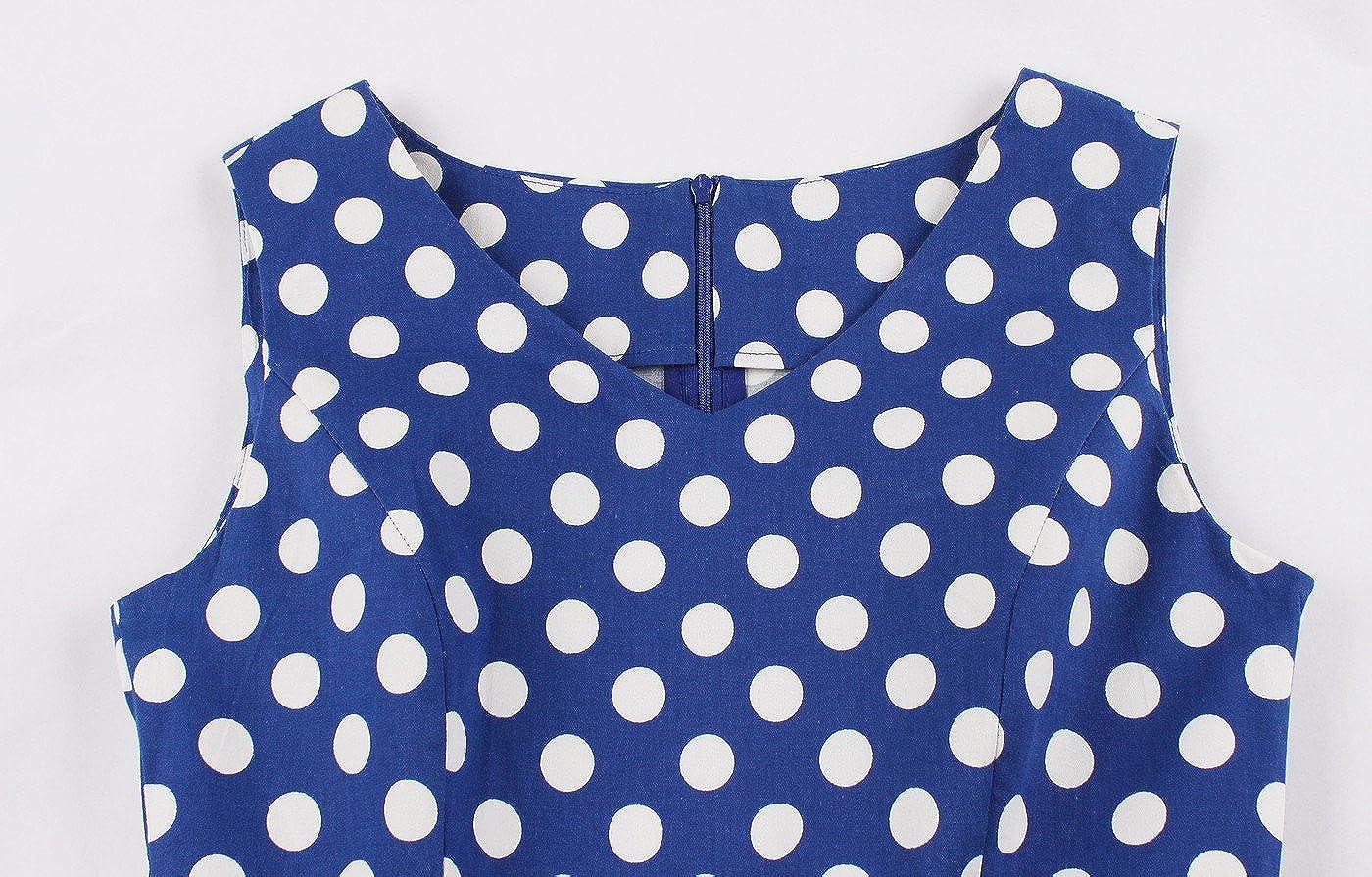 VERNASSA 1950s Abiti da Donna Formato S-4XL 50s Vestito da Swing dellAbito di Sera di Promenade del Cotone del Cotone di Stile di Hepburn di Stile Classico