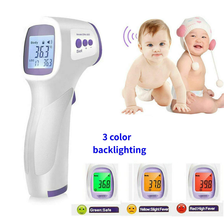 Stirn Fieberthermometer LCD Bildschirme f/ür Babykindern und Erwachsenen Kontaktloses Digitaler Infrarot Thermometer