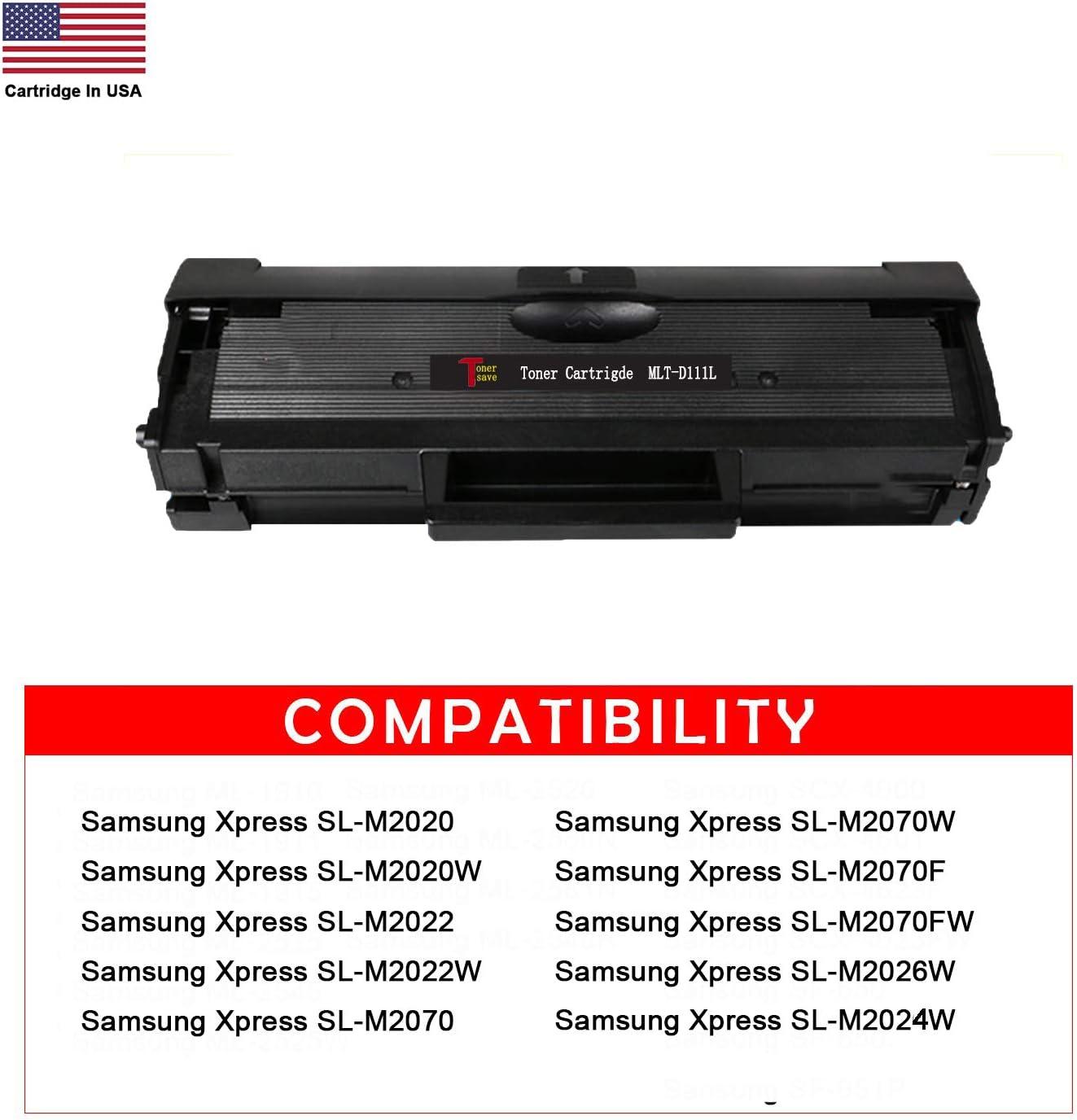 TonerSave 2PK MLT-D111S Toner Cartridge MLT-D111L for Samsung Xpress M2020W M2070FW M2026W M2070 M2020 M2070W M2070F M2022 M2022W Samsung D111S