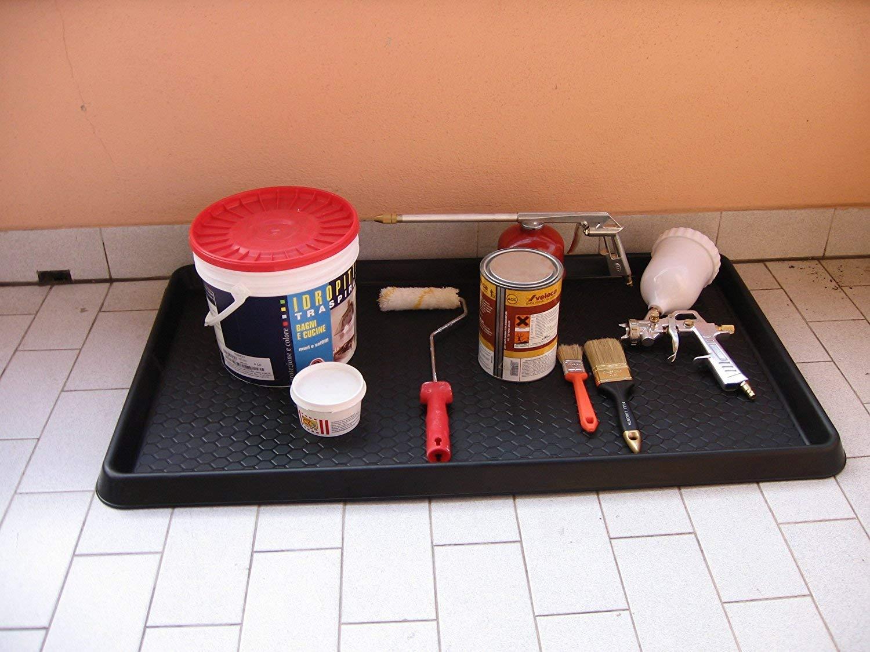 Kreher Praktische Mehrzweckablage und Kofferraumwanne mit erh/ö htem Rand, Wabenstruktur und rutschfestem Unterboden! Ma/ß e: 40 x 60 x 3 cm