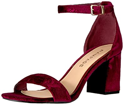 e34e592c40 Amazon.com   Rampage Womens Norma Block Heeled Sandal   Heeled Sandals