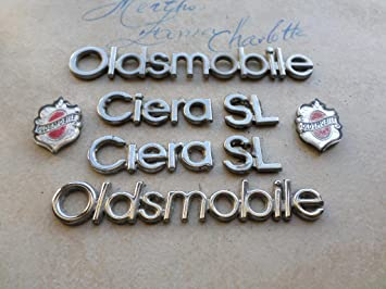 92 Oldsmobile Cutlass Ciera SL Emblem Logo Nameplate Mopar Set Of 4