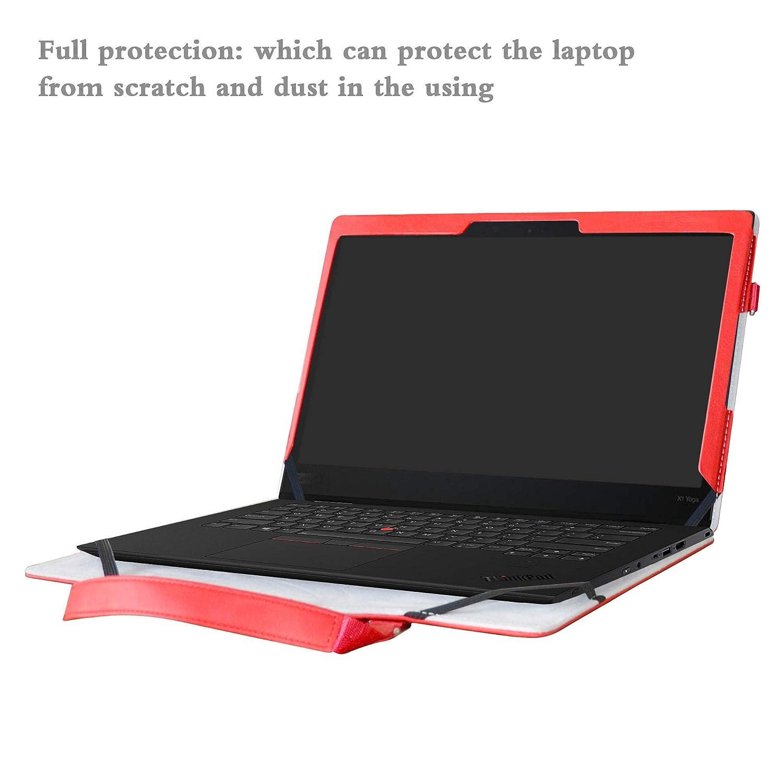 Thinkpad X1 Yoga Funda,2 in 1 Diseñado Especialmente La Funda Protectora de Cuero de PU + la Bolsa portátil para 14