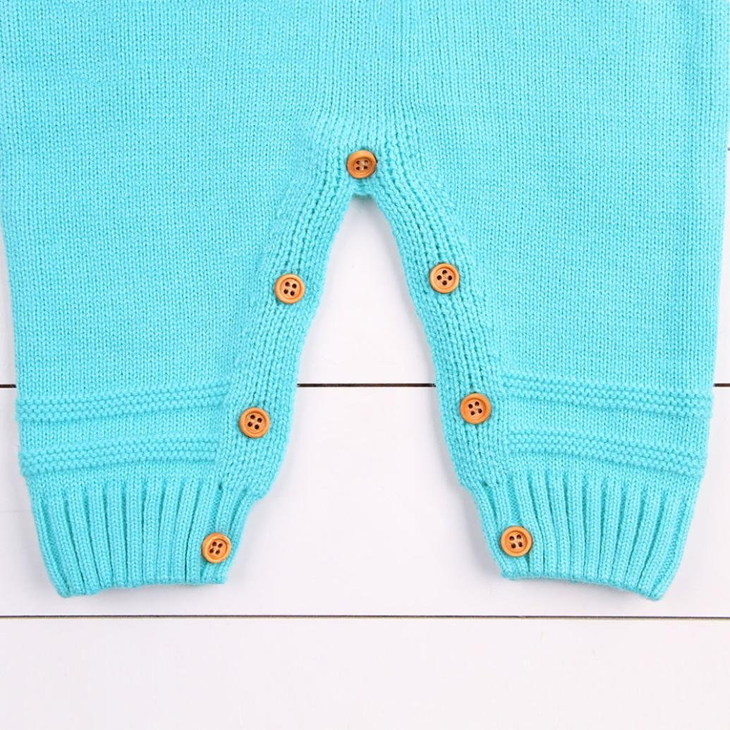Remiel Store Newborn Baby Long Sleeve Weave Knitted Romper Jumpsuit