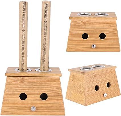 Caja de terapia de curación con dos orificios Caja de moxibustión de bambú suave Moxa Stick Roll Burner Terapia de moxibustión Moxibustión de bambú Tarjeta de caja caliente Deducción: Amazon.es: Belleza