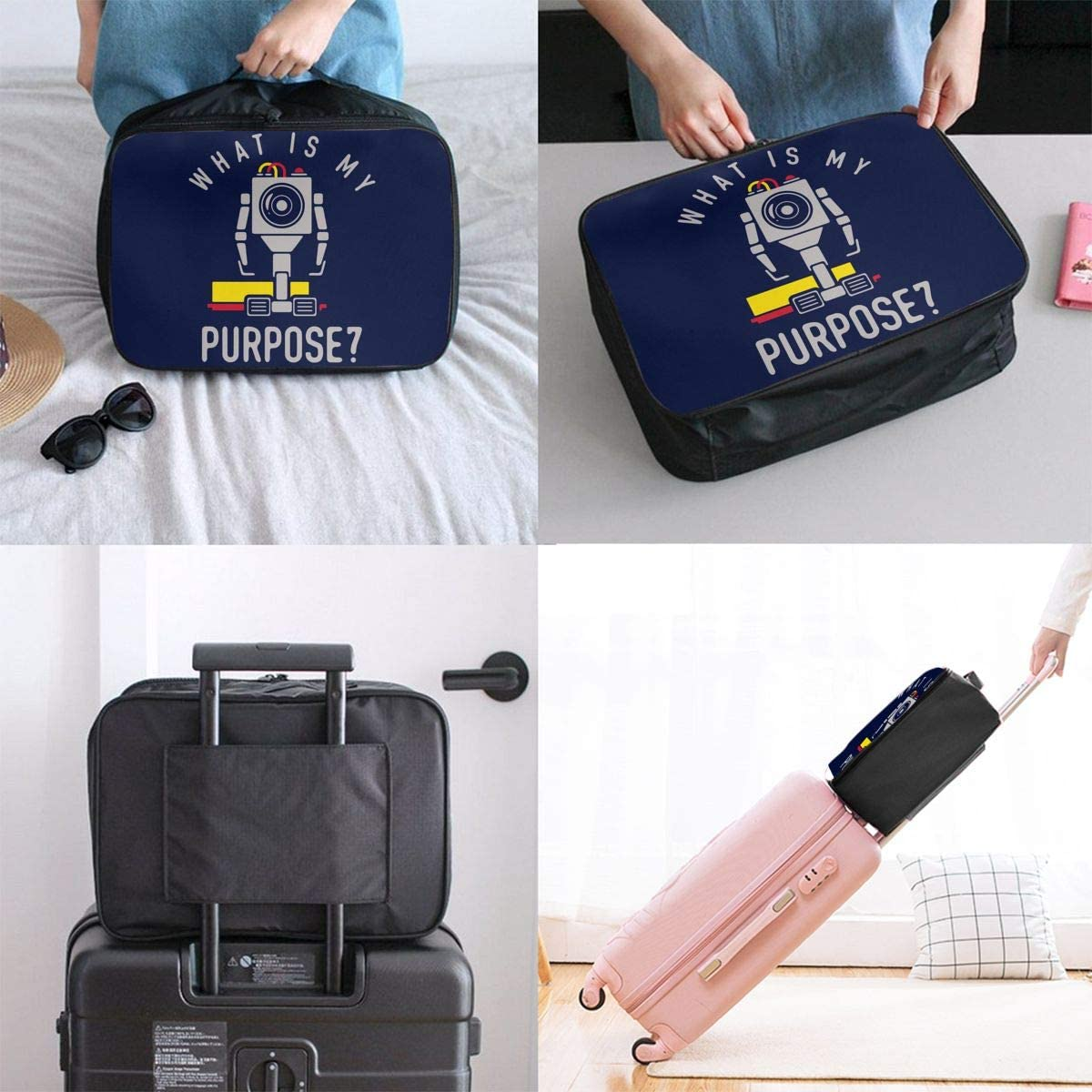 What Is My Purpose Carry Lightweight Large Capacity Portable Outdoor Luggage Trolley Bag