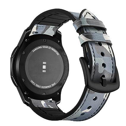 Aottom Correas Samsung Gear S3 Frontier Cuero,Correa Reloj 22mm ...