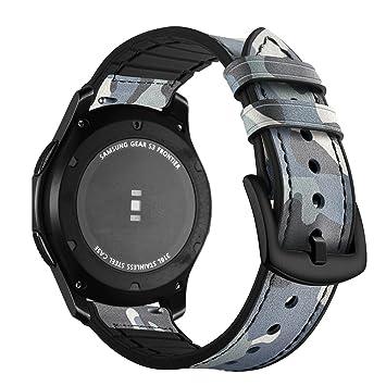 Aottom Correas Samsung Gear S3 Frontier Cuero,Correa Reloj ...