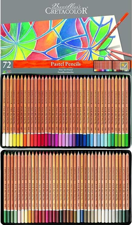 Cretacolor - Caja con lápices de colores pastel para bellas artes, 72 Stk: Amazon.es: Oficina y papelería