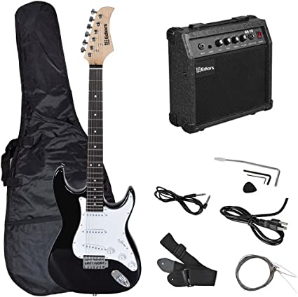 ediors® tamaño completo guitarra eléctrica con amplificador, funda ...