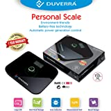 DUVERRA High Precision Digital Body Weighing Scale with Battery Free Technology and Tempered Safety Glass (Black, 5 MM)