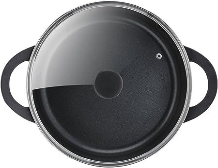 Sart/én de aluminio fundido 24 cm recubrimiento titanio antiadherente y thermosport Reacondicionado aptas para todo tipo de cocinas asas de apoyo Tefal Aroma base gruesa adecuada para inducci/ón
