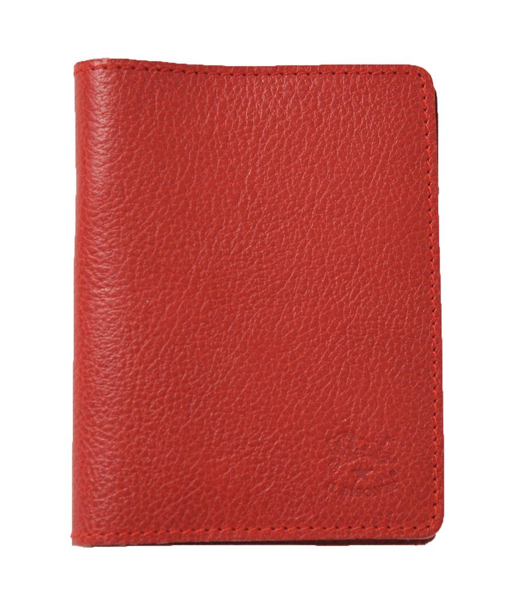 国内正規販売店 (イルビゾンテ) IL BISONTE 2つ折り レザーパスケース カードケース 定期入れ411619 ユニセックス B009O8LMGU red(col.34) red(col.34)